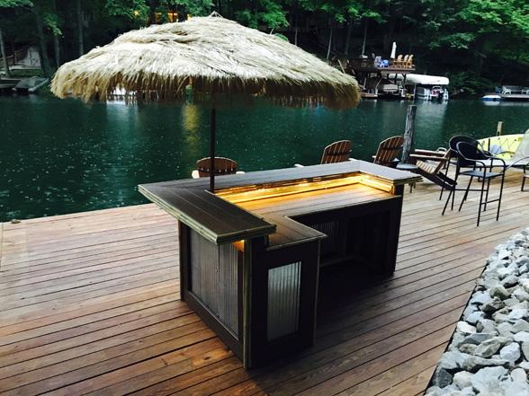 Outdoor Bar Lighted Umbrella Jmt Landscapes Patio Paver Landscapers